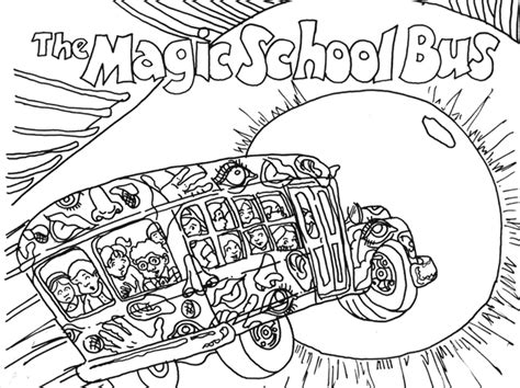 Magic School Bus Coloring Page   AZ Coloring Pages