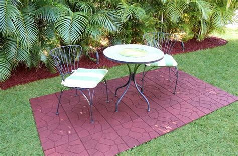 rubber mats for backyard 8 outdoor flooring options for style comfort