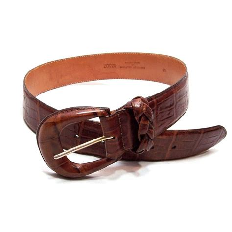 brighton womens wide leather belt size s small vintage usa
