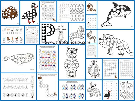 Arctic Animals Do a Dot Printables {free}   Gift of Curiosity