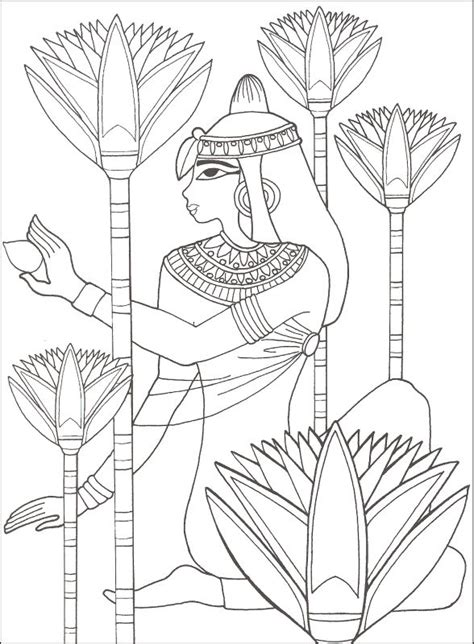 printable egyptian art free ancient egyptians coloring pages