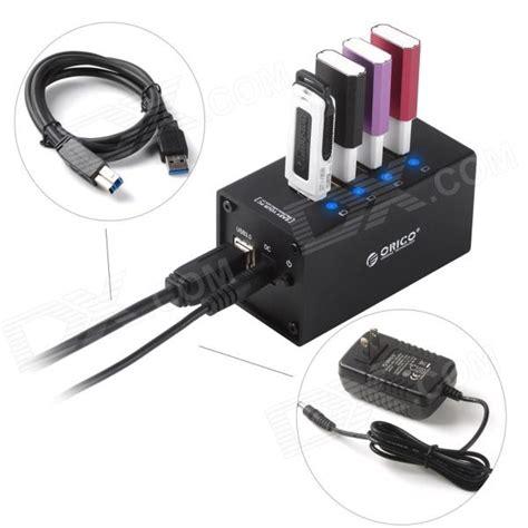 Orico Alumium Usb 30 High Speed Hub 4 Port orico a3h4 4 port usb 3 0 high speed hub aluminum alloy hub w us plugs power adapter black