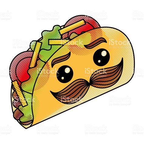 imagenes de tacos kawaii deliciosos tacos mexicanos con bigote kawaii arte