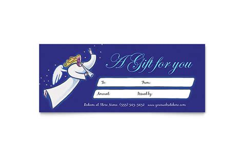 full page holiday gift certificate template search