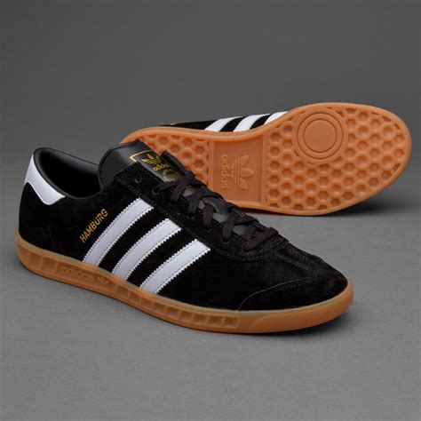 sepatu sneakers adidas originals hamburg black