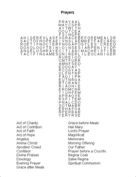 Prayer Word Search Printable | Instructions: Print, then
