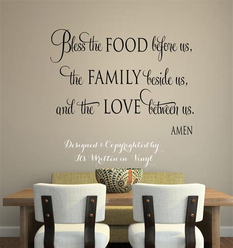 words for the wall home decor bless the food before us faith vinyl lettering wall words