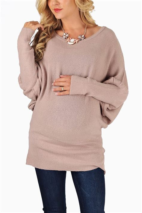 Poky Sweater Dusty Pink dusty pink knit dolman sleeve maternity sweater maternity fashion maternity sweater and sleeve