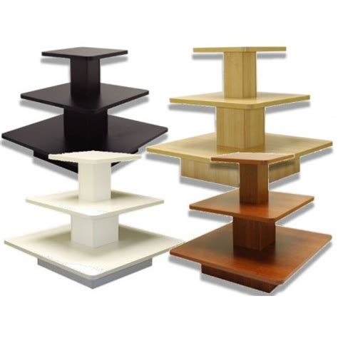 sts store fixtures 3 tier square display table