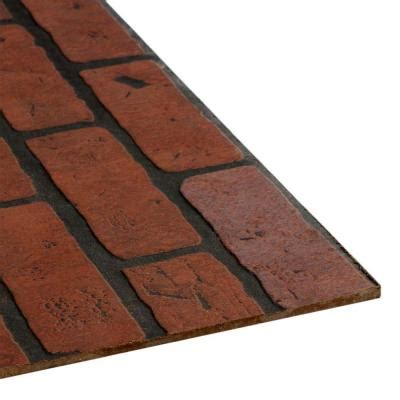 Decorative Bricks Home Depot | 4 ft x 8 ft decorative gaslight brick panel 103735 the