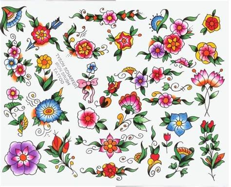 tattoo flash flowers flower tattoo flash tyson schaffert tattoo flash iron