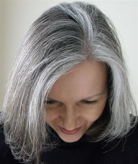 silver highlighted hair styles grey or silver highlights on dark dark brown hairs