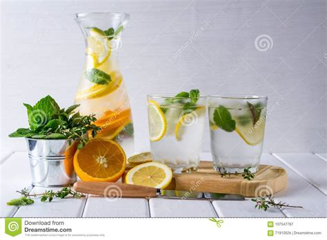 Detox Drinks White Background by Refreshing Cucumber Cocktail Lemonade Detox Water In A