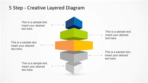 5 Step Creative Layered Diagram Powerpoint Template Creative Diagrams