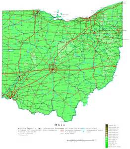 Topographical Map Of Ohio by Ohio Contour Map