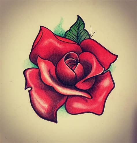 rose tattoo desing draw drawing desing color colors pastel sketch