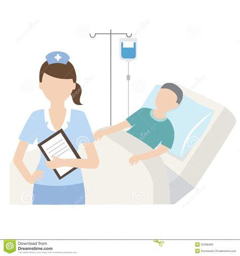 patient sup 233 rieur dans le lit d h 244 pital avec l infirmi 232 re