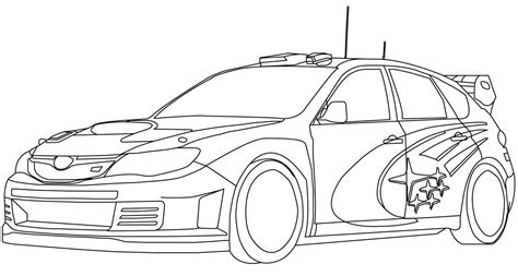 black and white coloring pages of cars pin subaru car colouring pages on pinterest