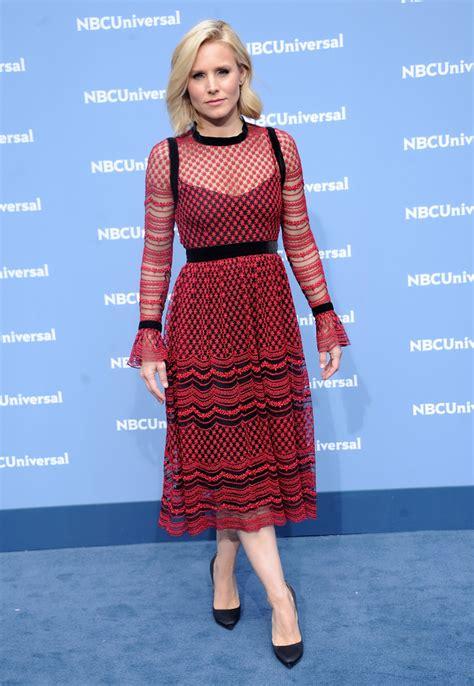 Style Kristen Bell Fabsugar Want Need by Kristen Bell Embroidered Dress Kristen Bell Looks