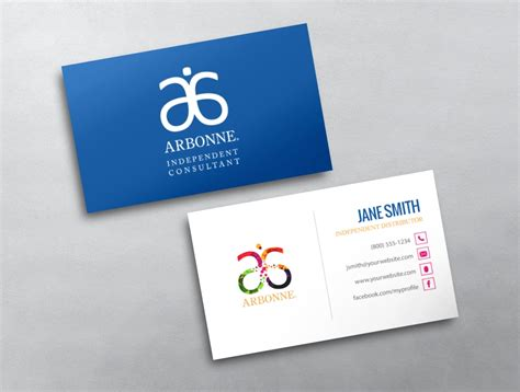 free arbonne business card template arbonne business cards canada images card design and