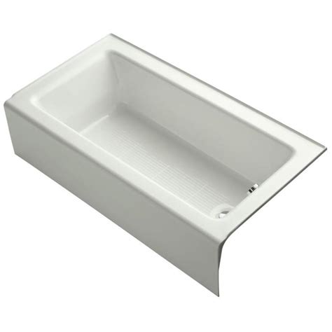 kohler cast iron shop kohler bellwether 60 in dune cast iron alcove bathtub