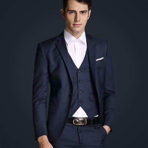 Top Quality 2015 Mens Slim Suits Set 3 Psc Blazer Vest