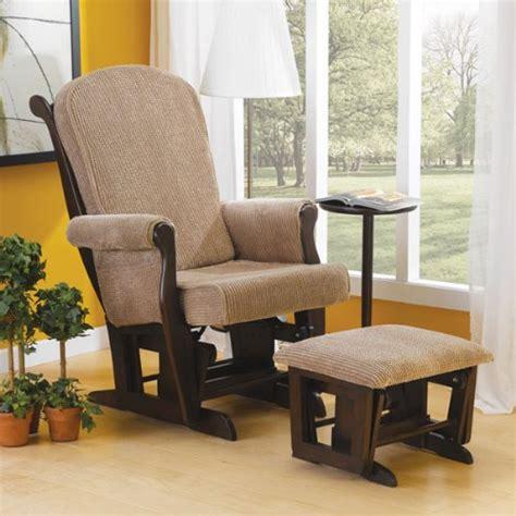 Wide Glider Chair by Glider Oeko Wynne Wide Seat Locking Glider Rocker With Ottoman And Side Table Nursery For Baby