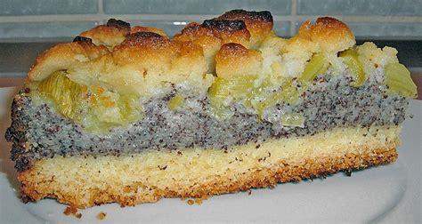 rhabarber kuchen rezepte rhabarber mohn kuchen rezepte beliebte rezepte f 252 r