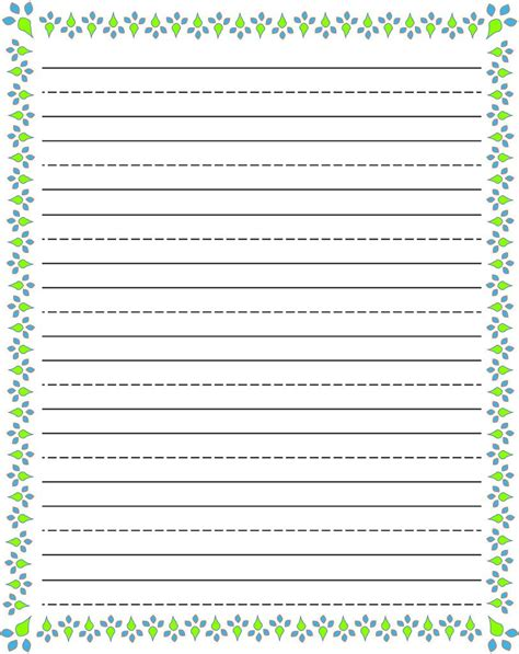 paper writing writing paper printable for kiddo shelter