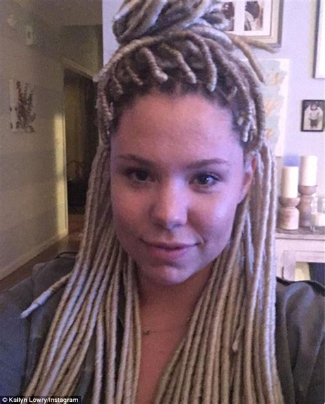 latest dread teen mom 2 star kailyn lowry unveils new dreadlocks on