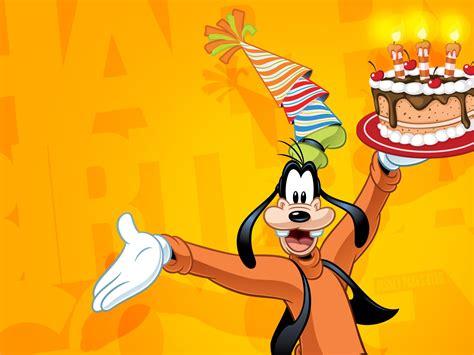 goofy celebrate happy birthday disney wallpaper  wallpaperscom