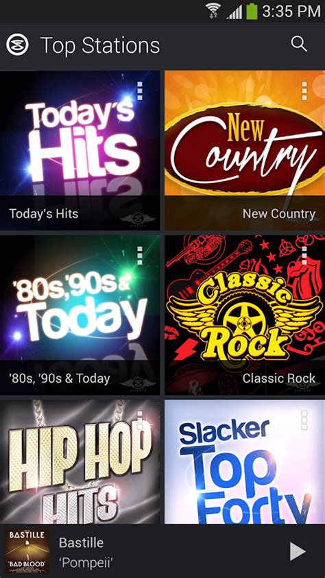 slacker androids slacker radio android apps on play