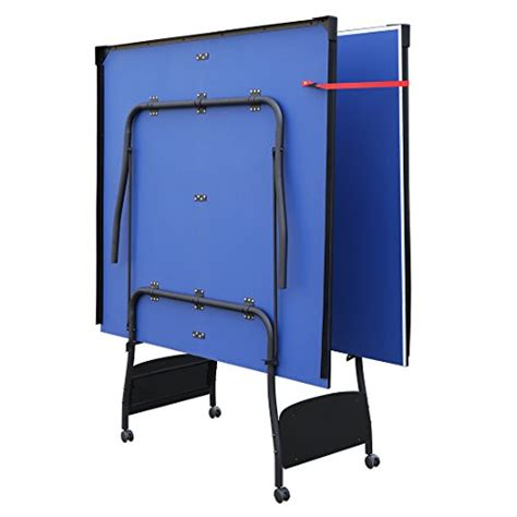 collapsible ping pong table hlc indoor folding ping pong table tennis table blue