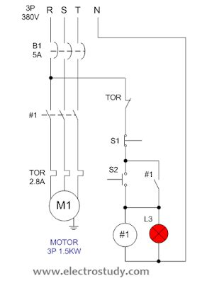 Wiring Diagram Single Motor With Start Stop Switch