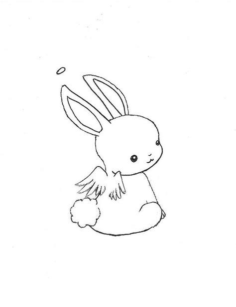 chibi bunny coloring pages kawaii animal drawing chibi bunny angel by escargotgirl