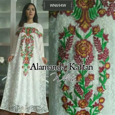 Baju Maxi Kaftan Wanita Ar2672 baju pesta brokat alamanda maxi busana wanita terbaru