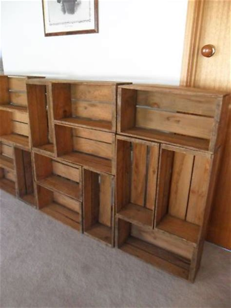 Wedding Box Orchards by 10 Industrial Vintage Timber Wooden Orchard Fruit Crates