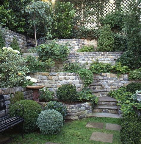 wall garden design ideas 17 best ideas about terraced garden on sloping