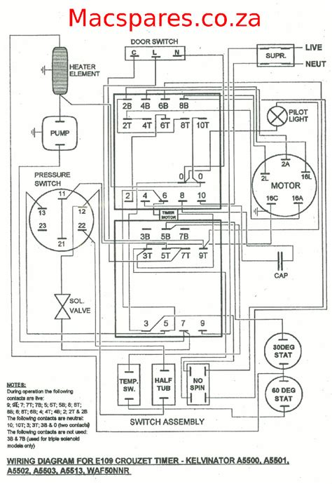 wiring diagrams washing machines macspares wholesale