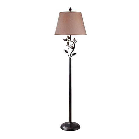 Kenroy Home Floor L Shop Kenroy Home Ashlen 58 In Three Way Rubbed Bronze Shaded Floor L With Fabric Shade At