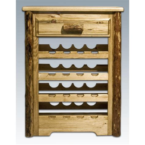 montana woodworks montana woodworks 174 glacier country wine cabinet 178368