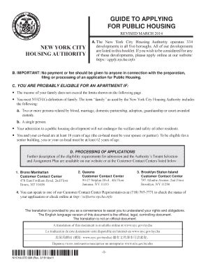 how to apply for hud housing nycha application online pdffiller
