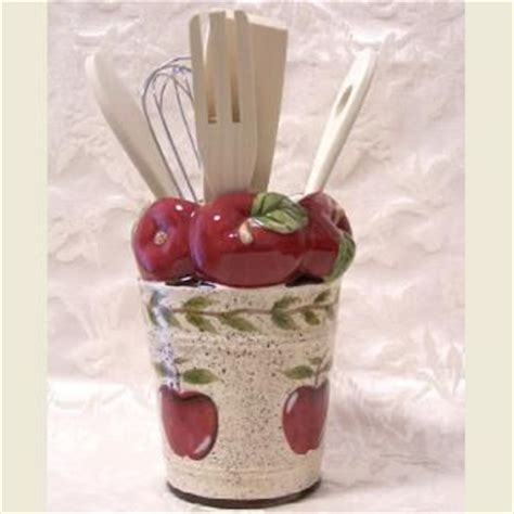 kitchen apples home decor country apple kitchen decor apple utensil holder