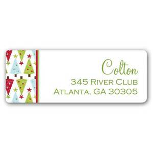 Christmas bliss return address labels paperstyle