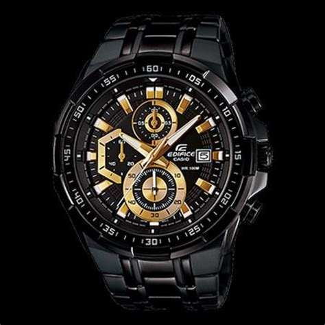 Casio Edifice Eqw M 1000 Black Gold casio edifice watches silver steel