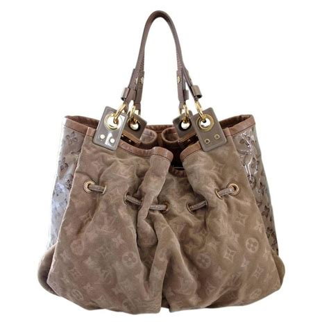 L V Irene Pouch louis vuitton limited edition irene coco suede patent leather large handbag at 1stdibs