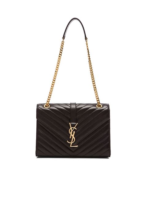 lyst saint laurent medium monogram envelope chain bag