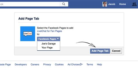 how to a fan page add livechat on your fan page