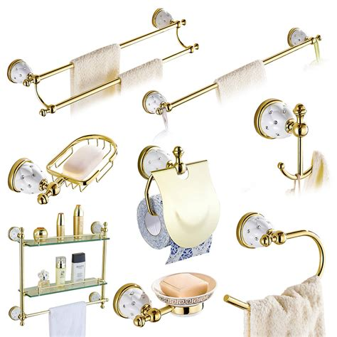wall mounted bathroom accessories sets bathroom accessories sets brass gold