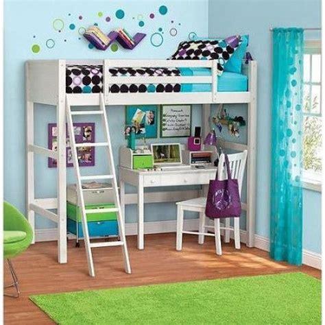 Wood Bunk Beds With Desk And Dresser by Loft Bed White Ladder Desk Wood Bunk Furniture Bedroom Boy Ebay
